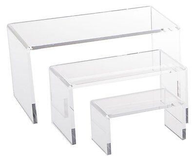 Economy Clear Acrylic Riser Set Display Jewelry Showcase Fixtures Azm Displays