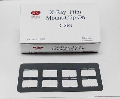 Dental Universal X-ray Film Mount Frames Size 2 - Clip On 8 Slot 100 Pcbox