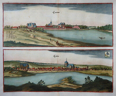 POLEN CURTOW CALIES KÜRTOW KORYTOWO KALISZ ANSICHT MERIAN TOPOGRAPHIA UM 1660