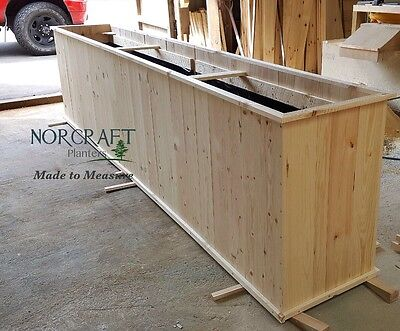 Large Planter Planting Box Raised Bed Tall Trough Wooden Plant Flower Display X
