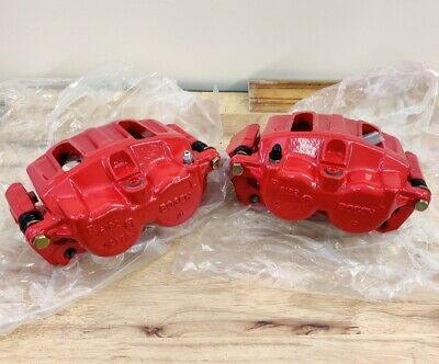 (2) Rear 2 Piston Brake Calipers Pair FX50 G37 G37X Q50 09 350Z 370Z 10-18 Red