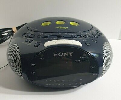 Sony Dream Machine Psyc ICF-CD831 CD Player + Alarm Clock + Radio | Blue TESTED