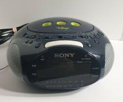 Sony Dream Machine Psyc ICF-CD831 CD Player + Alarm Clock + Radio | Blue TESTED