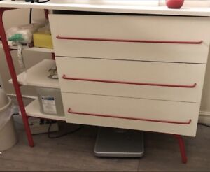 IKEA Cabinet - Red on White