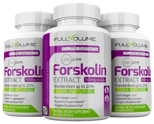 FORSKOLIN Weight Loss 100%PURE Coleus Forskohlii EXTRACT 500mg Standardized 20%