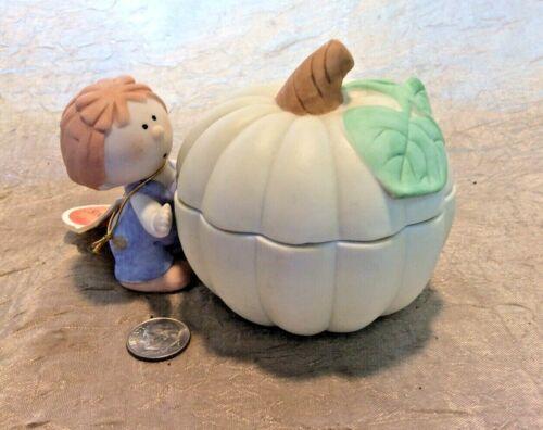Vintage Bumpkins By Fabrizio Boy With Lidded Pumpkin Box
