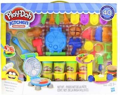 Play-Doh Kitchen Creations Ultimate Barbecue Set- 40+Piece & 10 Cans