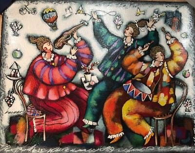 """MICHAEL KACHAN """"HAPPY PLAYING"""" HAND SIGNED LTD. ED. SERIGRAPH ON PAPER"""