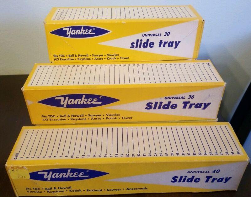 Lot Of 6 Yankee Universal Slide Trays Old Photography Stuff Universal 30, 36, 40