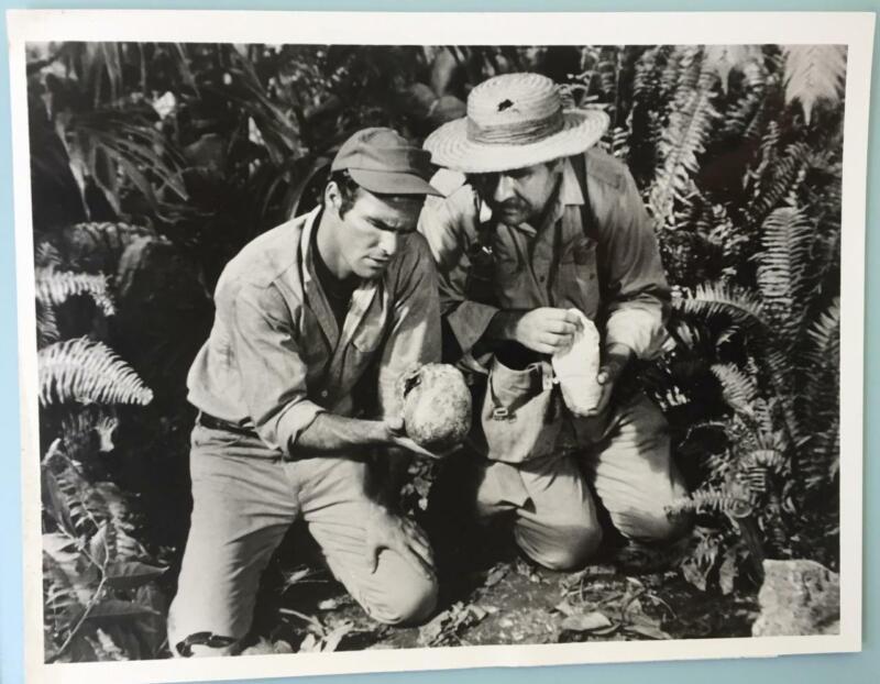 "Burt Reynolds and Roger C. Carmel Skullduggery B&W Photo Notes Attached 9"" X 7"""