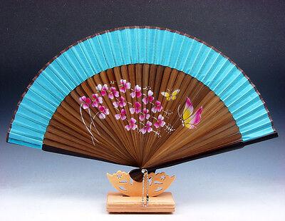 Bambú Plegable De Mano Ventilador Flor Mariposa Fiesta Boda Favor Con /...