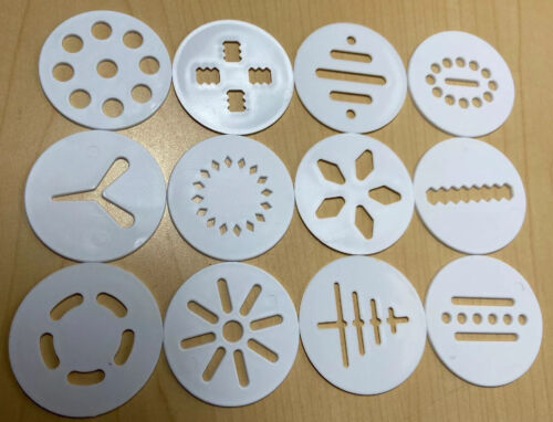 "Wilton Cookie Press Lot of 12 Replacement Discs 2"" Christmas"