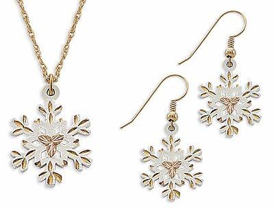 Landstrom's Black Hills Gold White Powder Coat Jewelry Set with Hooks GL972/WHT