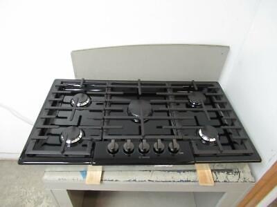 """Bosch 800 Series 36"""" BLK Indicator Lights 5 Sealed Burners Gas Cooktop NGM8646UC"""