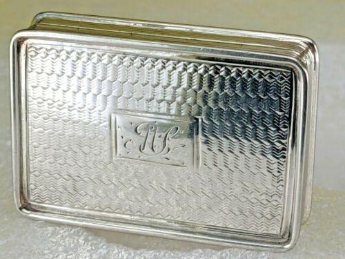 Solid silver vinaigrette 1835 William IV gold interior by William Simpson