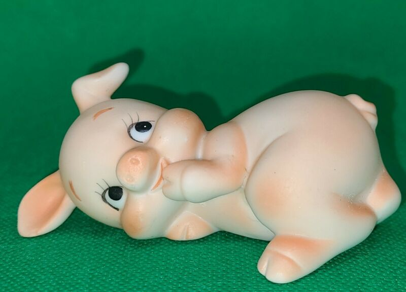 Vintage Lefton Cute Porcelain Pig