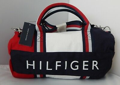 NEW Tommy Hilfiger Kids Mini Gym Signature Duffle Bag Red/White/Blue