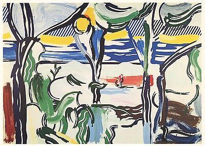 """Roy Lichtenstein """"Landscape with Figures"""" 1984"""