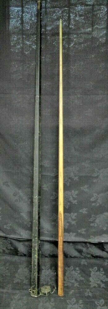 Vintage Ash Snooker Cue and Tin Case One Piece Ash