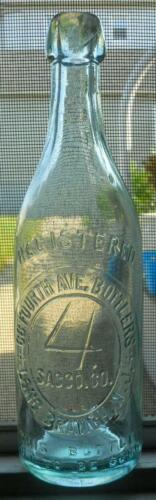 Sparkling Oval Slug Plate Sacco Bottlers Long Branch NJ Blob Top Beer Bottle