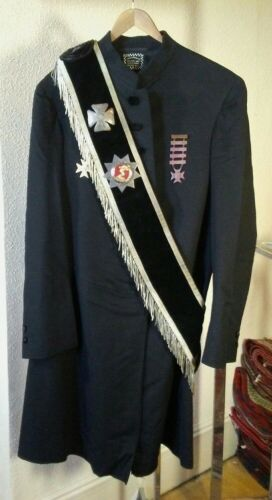 Circa 1900 Knights Templar Sash with Silver Bullion Fringe Spectacular Condition
