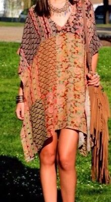 Zara Multicolour Printed Kaftan Tunic Dress Size M Fits UK 8 10 12 14 for sale  Shipping to Ireland