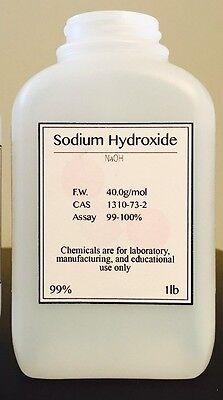 Sodium Hydroxide Naoh Fccusp Prilled Minimum 99 Pure 1lb Bottle