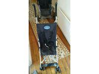 BabyStart Black 4 Wheeler Pushchair