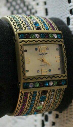Heidi Daus Lovely Colorful Stones Wrist Watch NEW NIB 312675