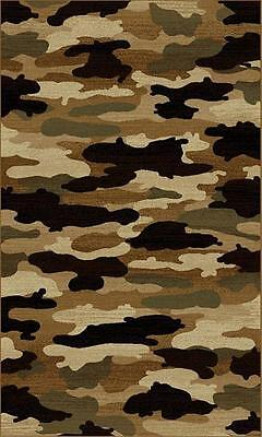 ~Wilderness~  Lodge Hunting Camoflauge Camo  MAT RUG Area Rugs ALL SIZES