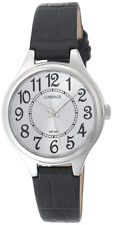 Timex Women's Carriage Quartz Silver Tone Brass Case/Black Leather Watch C3C391
