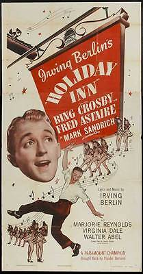 HOLIDAY INN Movie POSTER 27x40 B Bing Crosby Fred Astaire Marjorie Reynolds
