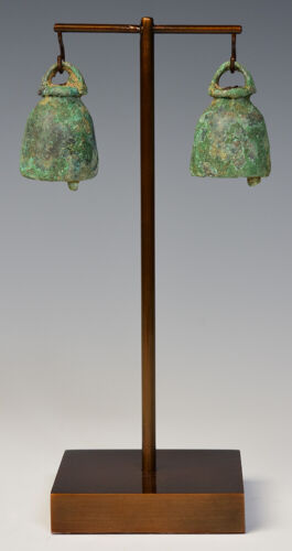 2,500 - 3,000 Years, A Pair of Dong Son Bronze Bells with Stand