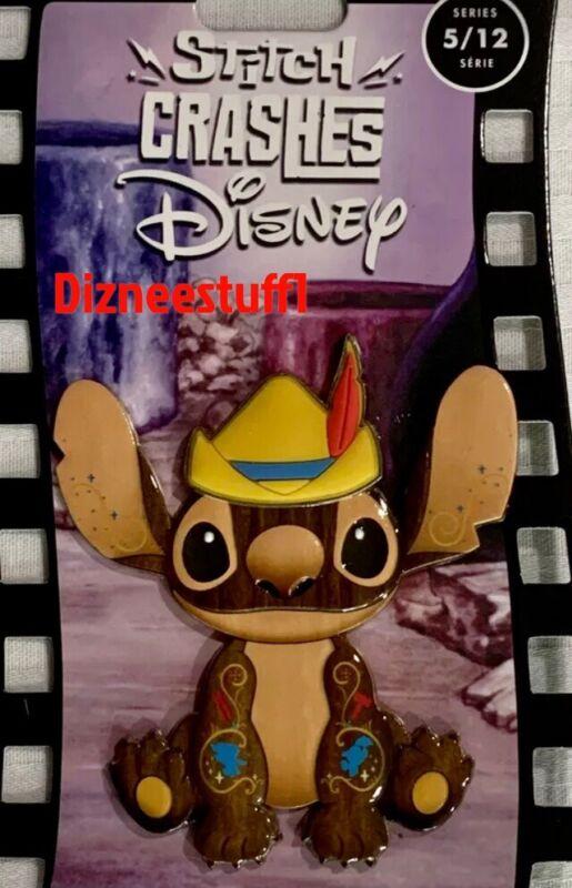 2021 Disney Stitch Crashes Pinocchio Pin (5/12) In Hand