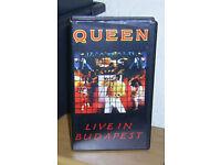 5 Original Queen VHS Music Video Tapes