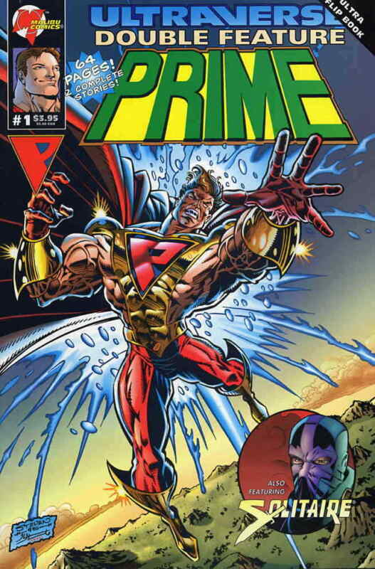 Ultraverse Double Feature: Prime and Solitaire #1 VF; Malibu | save on shipping