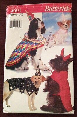 Dog Halloween Costume Butterick 4601 Uncut Pattern Devil Wizard Princess - Dog Halloween Costume Patterns