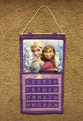 Disney Frozen ELSA ANNA Advent Calendar Purple Felt