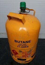Kosangas yellow gas cylinders for sale.