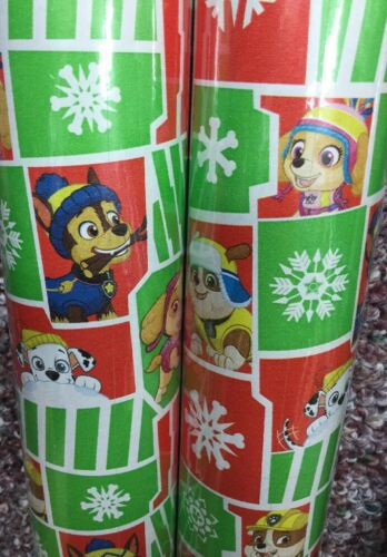 40 sqft Paw Patrol Dog Wrapping Paper Christmas Birthday Gif