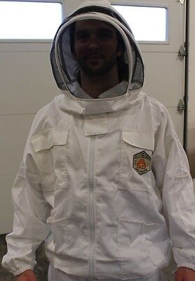 Beekeeping Jacket With Domed Hoodveil