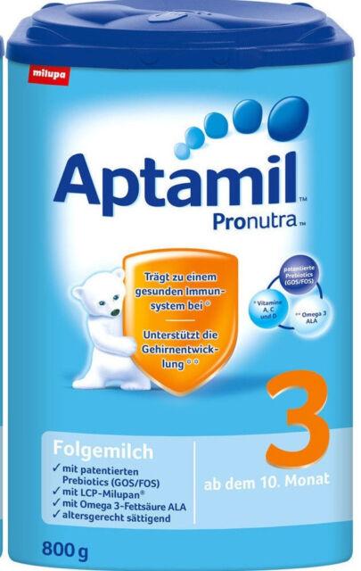 Milupa Aptamil 3 Milchnahrung mit Pronutra 1 Jahr Haltbar ab Kaufdatum 1x 800g