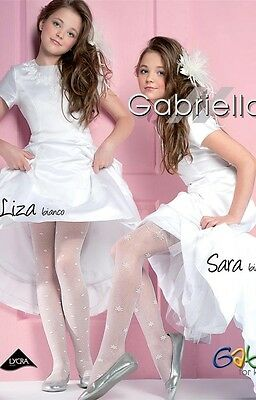Kinder gemusterte Strumpfhose Mädchen Feinstrumpfhose 20 DEN 2 Varianten
