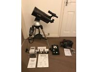 Skywatcher Skymax 127 Synscan AZ GOTO Telescope with rechargeable Power Tank and accessories