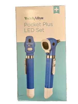 Welch Allyn 92880 Led 2.5v Pocket Plus Diagnostic Set W Ophthalmoscope Otoscope