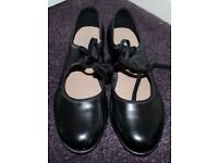 Size 7 Black Patent Tap Shoes