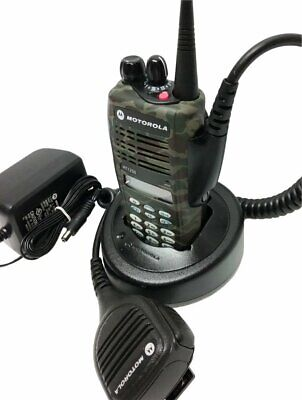 Motorola Ht1250 Uhf Tactical Camouflage Two Way Radio 403-470 Mhz 128-channel 4w