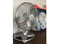 Honeywell table top fan available, 50 watts, tilt adjustable/rotating, boxed, fixed price