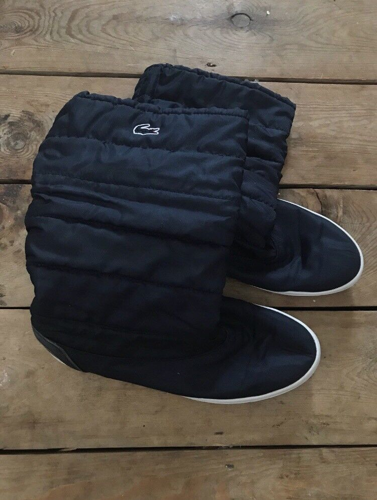 Navy blue Lacoste winter boots