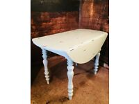 Farmhouse Cottage Drop Leaf Kitchen Table Shabby Chic